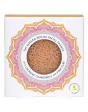 Gąbka Konjac Mandala do twarzy z rumiankiem i różową glinką dla cery wrażliwej