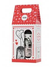 Zestaw Walentynkowy: Żel pod prysznic róża + balsam do ciała