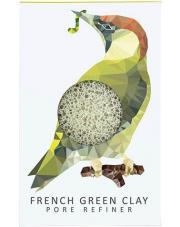 Gąbka Konjac MINI Dzięcioł z zieloną glinką do cery normalnej, mieszanej i tłustej