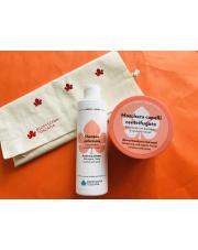 Zestaw: szampon wzmacniający+maska wzmacniająca na bazie organicznych Toskańskich pomidorów i marchewek