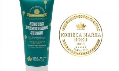Aktywna odżywka do włosów Biofficina Toscana nagrodzona Kobiecą Marką Roku!